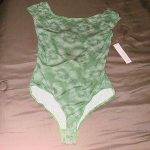 Weston Green/white checkered print Swimwear